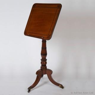 English Regency Period Mahogany Reading Table