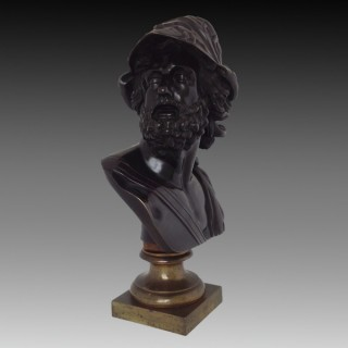 French 19th century Bronze Bust of Menelaus (Ajax)