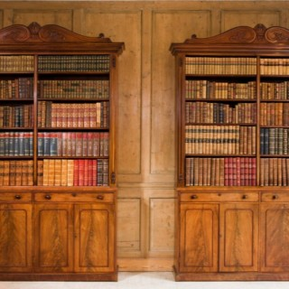 Pair of William IV Bookcases