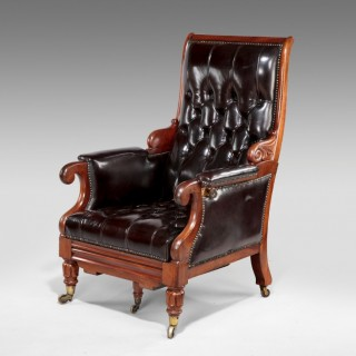 William IV Reclining Library Armchair