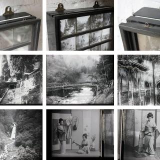 A Stunning Group of Twenty-Four Light-Box Framed Late 19thC Lantern Slides of Japanese Interest
