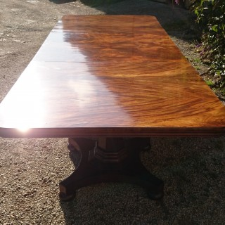 Antique Twin Pedestal Dining Table