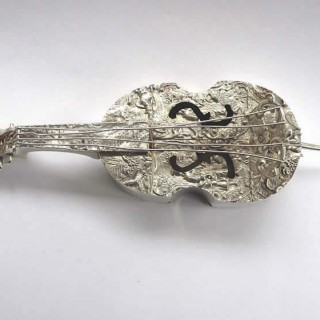 Antique Miniature Silver Double Bass
