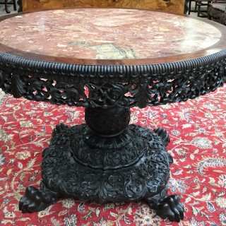 Large Chinese Hardwood Table