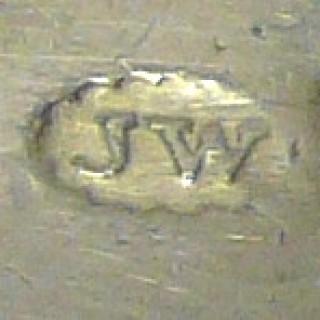 Antique Silver Brandy Label