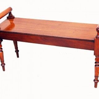 Antique Mid 19th Century Mahogany Hall Bench