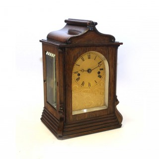 Small Rosewood Fusee striking clock by French, Royal Exchange