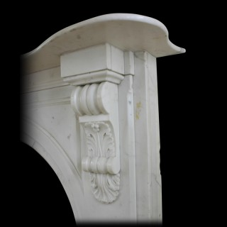 Victorian Statuary white marble fireplace surround