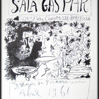Drawings of Picasso: Poster - Sala Gaspar - Three Drinkers