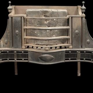 18th Century Georgian cast iron and steel dog grate.