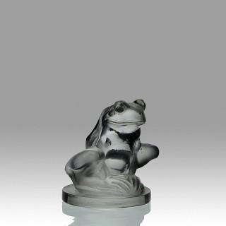Rare René Lalique Glass Car Mascot entitled 'Grenouille'