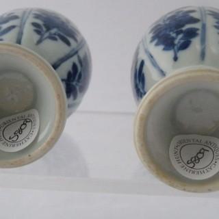 kangxi Blue and White lidded jars