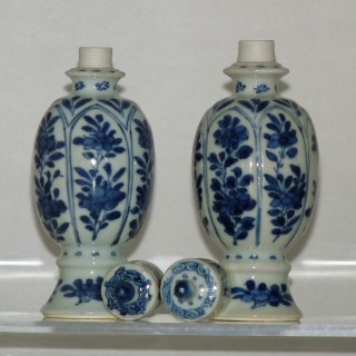 kangxi Blue and White lidded jars