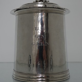 Large Antique 17C Silver Tankard  London 1691