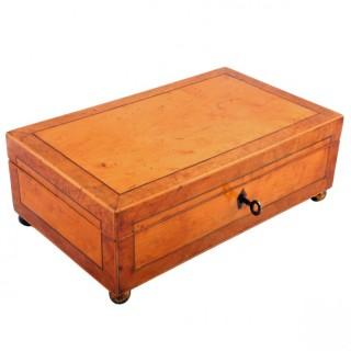 Victorian Maple & Birch Jewellery Box