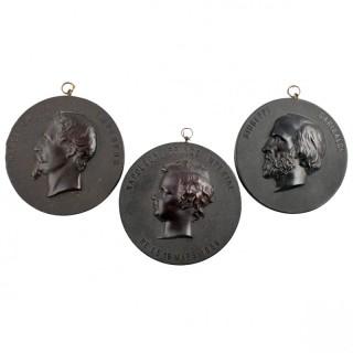 Three Bois Durci Medallions