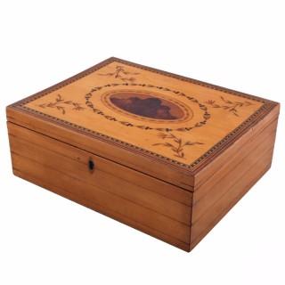 Sycamore Inlaid Sewing Box