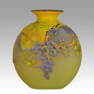 Cameo Glass by Emile Gallé - 'Raisins Soufflé Vase'