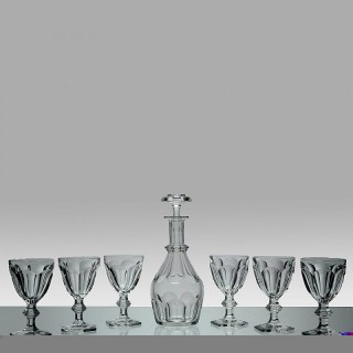 Crystal Glass Decanter and Glasses set by Baccarat