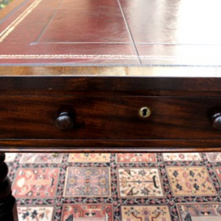 Antique William 1V Mahogany Partners Library or Writing  or  Desk