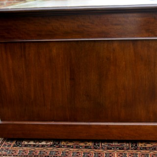 Large Antique Mahogany Partners Desk