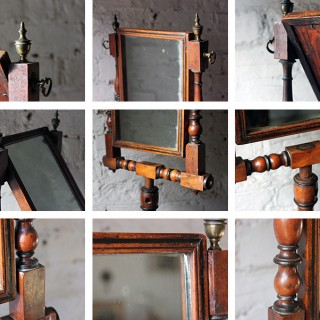 A Fine George III Mahogany & Ebonised Gentleman's Shaving Mirror c.1825
