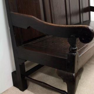 Late George III Oak Hall Bench
