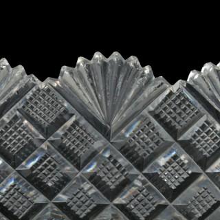 Pair of Cut Crystal Baskets