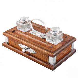 Silver Mounted 'Sheaffer' Inkwell Stand