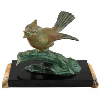 Art Deco Bronze Bird