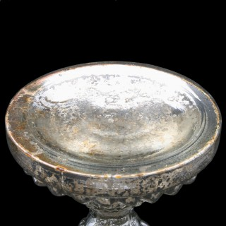 Victorian Silver Resist Candlestick