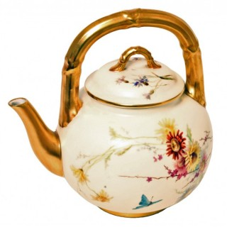 19th Century Royal Worcester Tea Pot