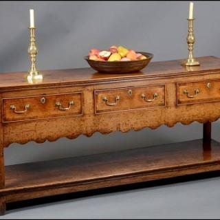 18th century oak low dresser
