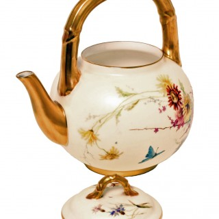 19th Century Royal Worcester Tea Pot