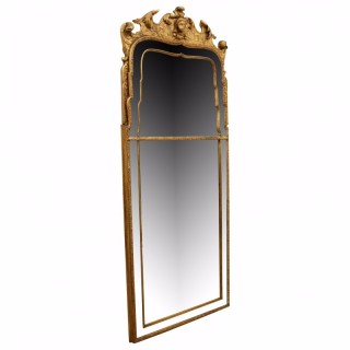 George II Style Carved and Gilded Pier Mirror