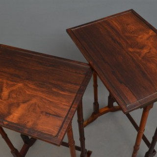 Late Victorian Nest of 4 Tables in Rosewood