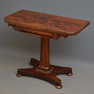 Fine Regency Rosewood Games Table