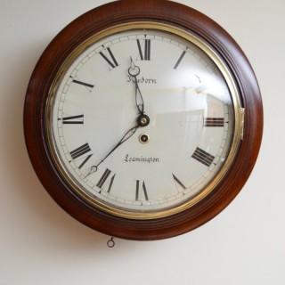 Fine Early Victorian Wall Clock, Hordern Leamington
