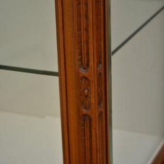 Elegant and Unusual Walnut Display Cabinet
