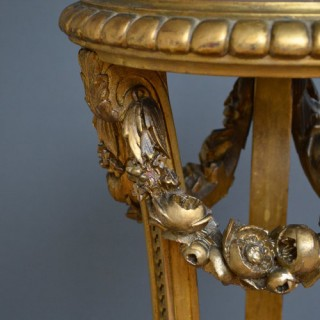 Exceptional Pair of Giltwood Torchers