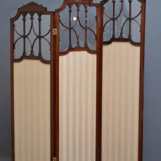 Exceptional Edwardian 3 Panel Folding Screen