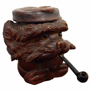 Black Forest Dog Tobacco Jar