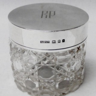 Art Deco Silver Lidded Jar by Asprey