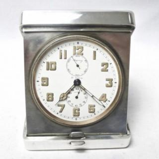 Art Deco Silver Clock by Asprey