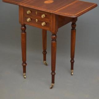 Fine Edwardian Pembroke Table in Mahogany