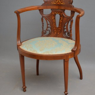 Edwardain Mahogany Occasional Chair