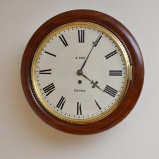 Victorian Fusee Wall Clock, C. Renk, Salford