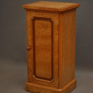 Victorian Bedside Cabinet in Figured Ash