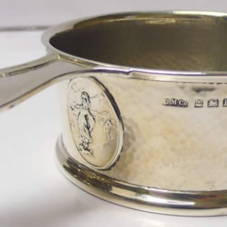Edwardian Arts and Crafts Silver Childs Cup