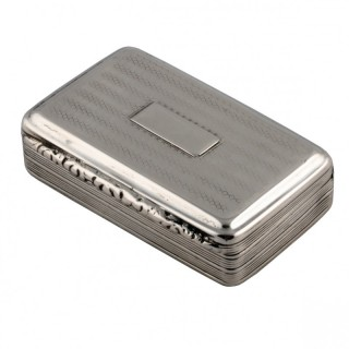 George IV Sterling Silver Snuff Box